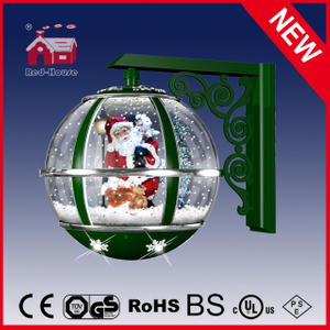 (LW30033E-GS11) Fashion Green Round Ball Shape Santa Claus Christmas Wall Lamp