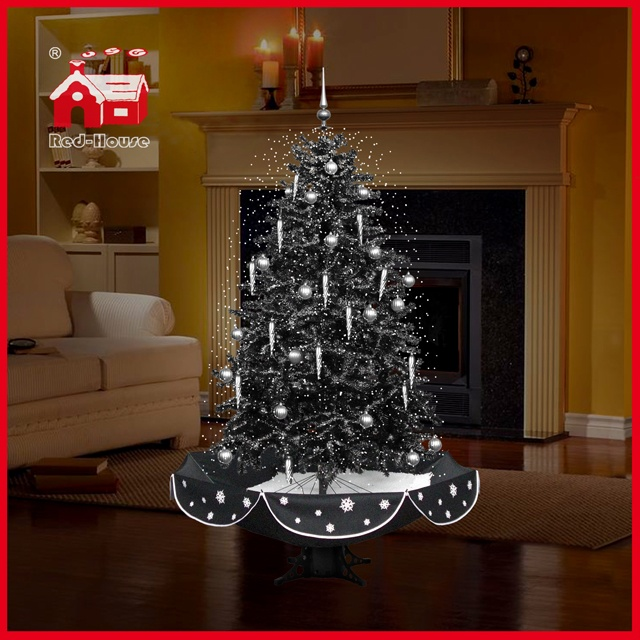 (40110U150-HS) Christmas Decoration Indoor Colorful Ornaments LED Snowing Christmas Tree