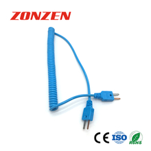 CCP-T Coiled Cords With Molded Mini Plug Thermocouple (ANSI)