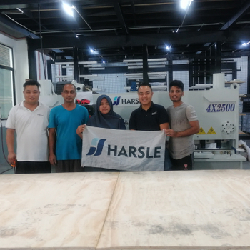 HARSLE Hydraulic Guillotine shearing machine in Malaysia, Customer feedback