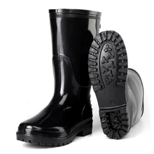 Knee-high water proof non safety men pvc glitter rain boots