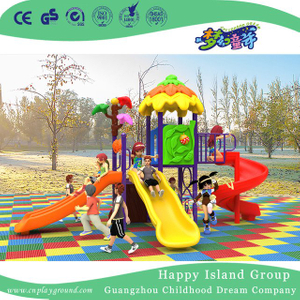 New Outdoor Colorful Leaves Roof Children Combination Slide Playground Equipment (H17-A20)