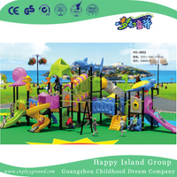 Wonderful Ocean World Animal Galvanized Steel Children Playground with Slide (HG-9902)