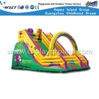 Kindergarten Cartoon Animal Inflatable Slide Equipment (HD-9602)