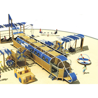 Outdoor Amusement Park Large Aircraft Wooden Playground (HHK-2401)