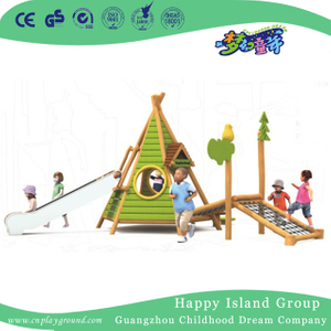 Outdoor Small Wooden Playhouse Playground Equipment (1907603)