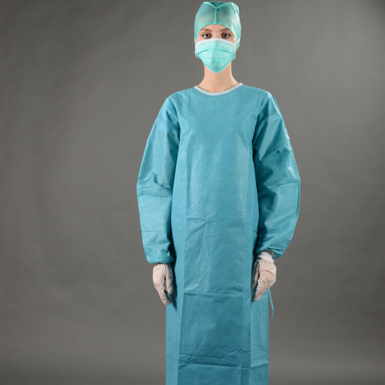Enlarge Size Eo Sterilized Disposable SMS Standard Surgical Gown