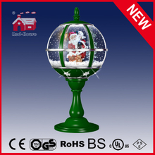 (LT30059E-GS01) Christmas Gifts Tabletop Snow Globe Lamp with Decorative Snowflake