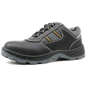 Black leather anti static steel toe zapatos de seguridad safety shoes