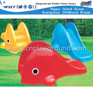 Outdoor Small Size Plastic Toys Animal Cartoon Whale Slide Playground Equipment (M11-09805)