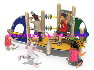 New Design Mini Children Wooden Playground for Backyard