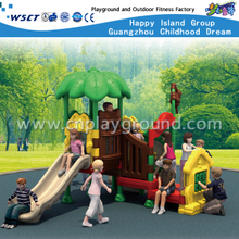 New Design Small Tree Leave Roof Full Plastic Playground Set for Toddler
