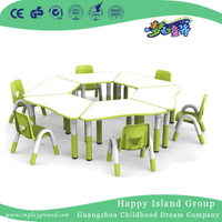 Kindergarten Children Wooden Trapezoidal Table Desk Furniture (HG-4803)