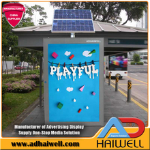 Solar Powered Bus Stop Mupi Signalisation
