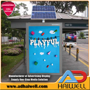 Solar Powered Bus Stop Mupi Signage