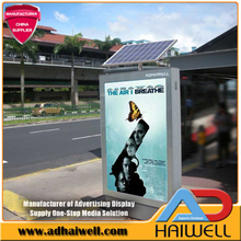Rue Solar Powered Publicité Scrolling Light Box