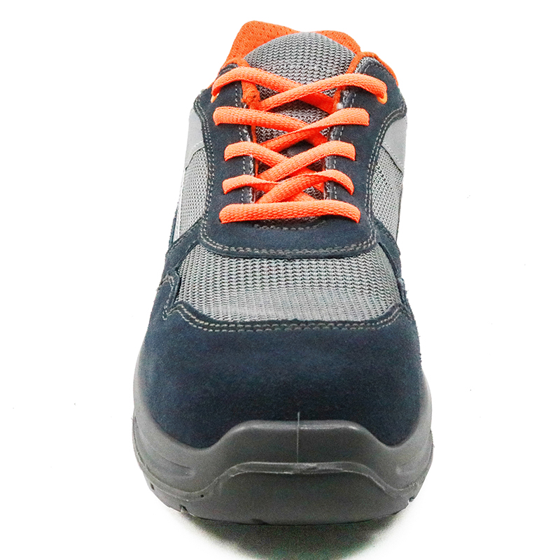 Slip resistant breathable sport style safety shoes for workshop