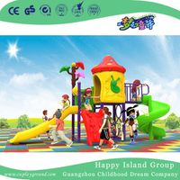 New Outdoor Cartoon Double Slide Children Mushroom House Playground (H17-A19)