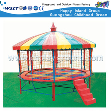M11-10402 Amusement Park Kids Trampoline With Roof Equipment
