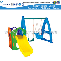 Outdoor Plastic Toys Small Size Slide &Swing Toddler Playground (M11-09104)