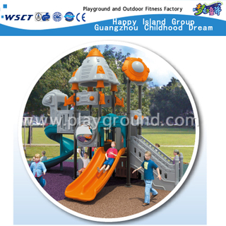 Robot Type Outdoor Children Galvanized Steel Playground with Double Slide Equipment (HD-701)