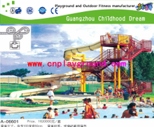 Outdoor Family Water Combination Slide For Swimming Pool Water Play Set