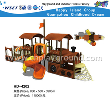 Outdoor Train School Children Galvanized Steel Playground with Spiral Slide on Discount (HD-4202)