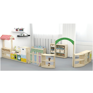 School Functions Room Nature Wood Classroom Furniture For Kids (HJ-3500)