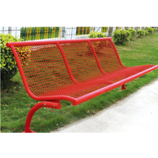 Public Red Outdoor Metal Leisure Bench Equipment (HHK-14704)