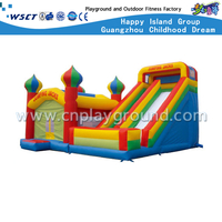 PVC Material Jumping Jacks Outdoor Inflatable Bouncers Slide(HD-9504)