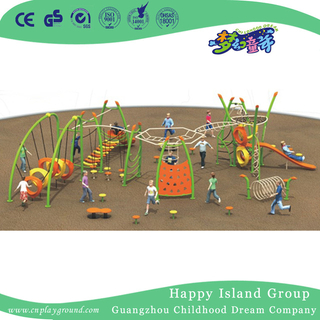 Outdoor Green Climbing Combination Frame Playground For Park (1917702)