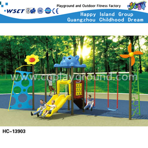 Outdoor Cartoon Animal Swing Combination Playground (HC-13903)