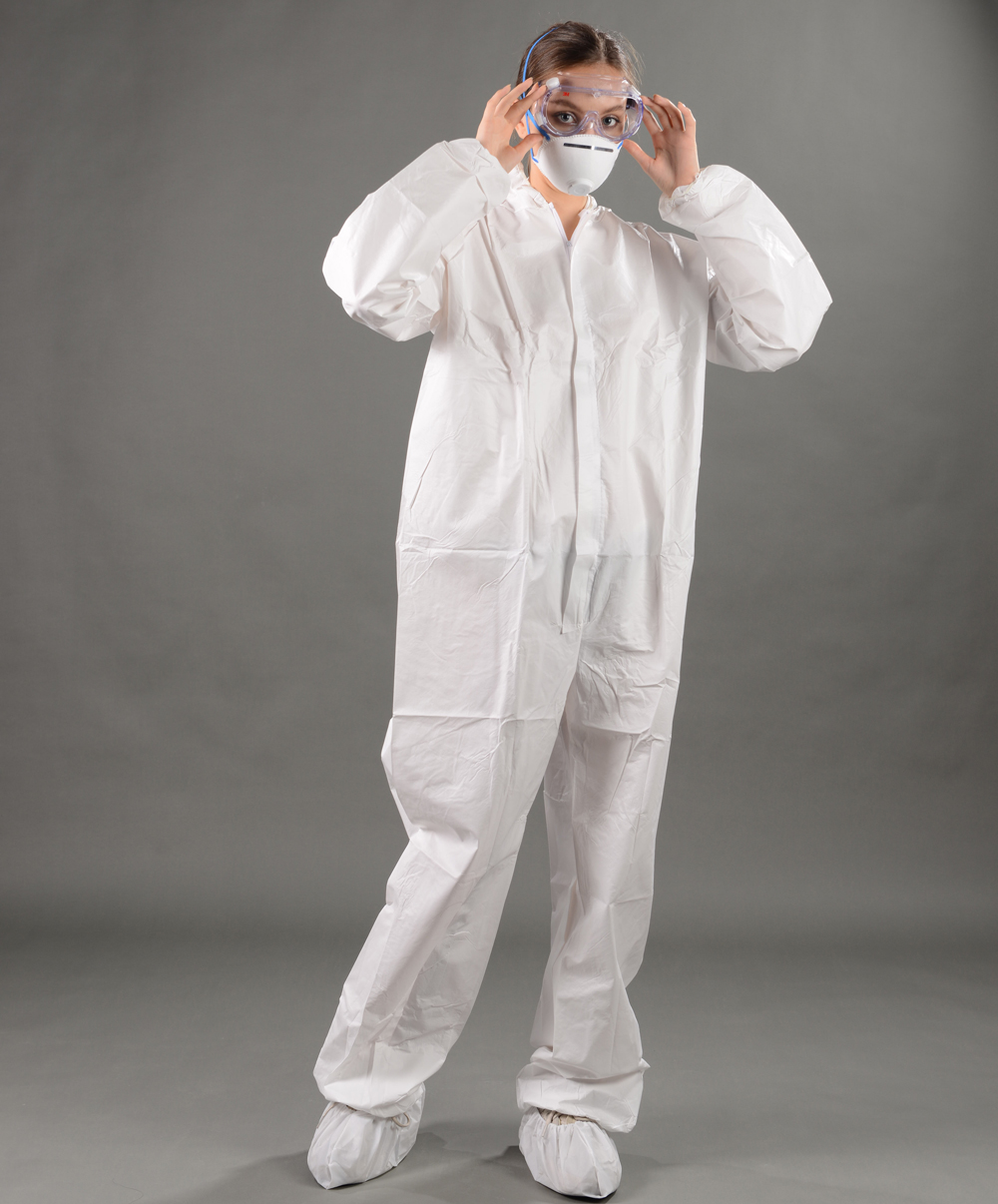 Disposable microporous coverall antistic
