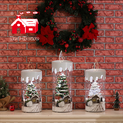 Wholesale home decor candle lighting with lovely songs and attractive looking