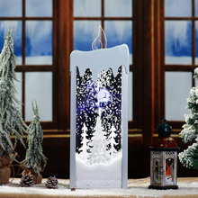 Interesting Xmas Decorations Led Christmas Lights Transparent Big Candle for Home Decor