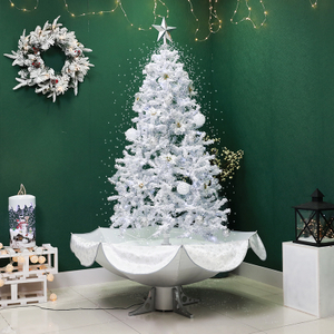 New Snow Christmas Tree with Lighting and Music