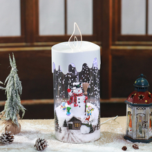 Wholesale Best -selling New Styles Snowing Christmas Custom Candle Holder Christmas Decoration