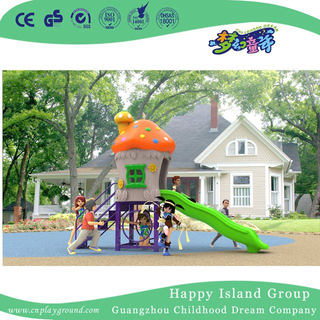 New Design Outdoor Small Children Mushroom House Playground Equipment with Slide (H17-A3)