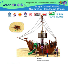 Outdoor family Pirate Ship for Wooden Series Playground (HD-5501)