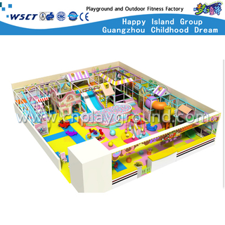 Public Middle Kids Cartoon Indoor Playground On Promotion (H13-60013)