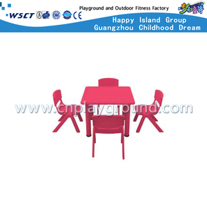 Kindergarten Plastic Square Table Furniture for Four (M11-07504)