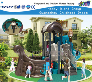 Outdoor Pirate Ship Children Playsets Backyard Galvanized Steel Playground (HF-13601)