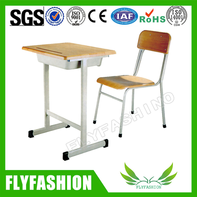 Wooden Classroom Single School Desk And Chair( SF-19S)