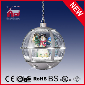 (LH30033L-SS01) Hanging Snow Globe Lamp Cute Snowman Light for Holiday
