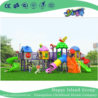 New Design Outdoor Middle Size Combination Mushroom House Children Playground Equipment (H17-A10)