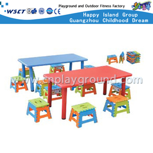 Kindergarten Furniture Kids Small Plastic Table and Chair Sets (M11-07106)