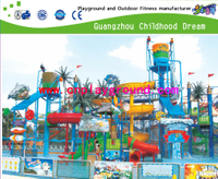 Large Family Water Park Slide Playground for Hotel