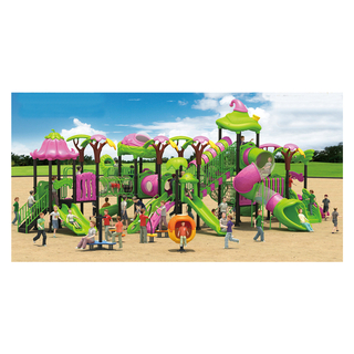 Amusement Park Outdoor Pink and Green Vegetable Playground For Children (HJ-12301)
