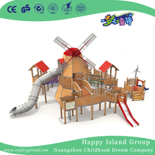 Outdoor Large New Windmill Wooden Playground (HHK-7802)