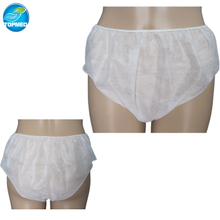 Nonwoven disposable panties for female